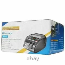 New Money Bill Cash Counter Bank Machine Currency Counting UV MG Counterfeit US