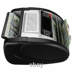 New-Money Bill Cash Counter Bank Machine Currency Counting UV MG Counterfeit-US
