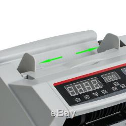 New Money Bill Cash Counter Currency Counting Machine UV MG Counterfeit Detector