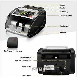 New-Money Bill Currency Counter Counting Machine Counterfeit Detector UV MG Cash