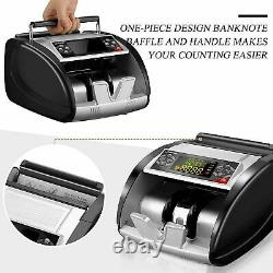 New-Money Bill Currency Counter Counting Machine. Counterfeit Detector UV MG Cash