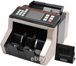 Portable Automatic Bill Money Cash Counter Currency Counting Bank Machine UV/MG