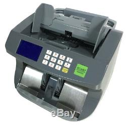 Premium Bill Counter Banknote Cash Money Currency Counterfeit Machine, SEE VIDEO