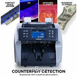 Promnico Bill Counter Machine for Multiple Currencies with Counterfeit Detection