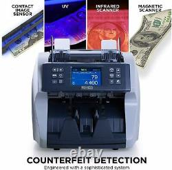 Promnico Money Counter for Multiple Currencies And Counterfeit Detection Gray