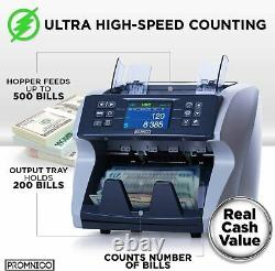 Promnico Money Counter for Multiple Currencies & Counterfeit Detection P-1004
