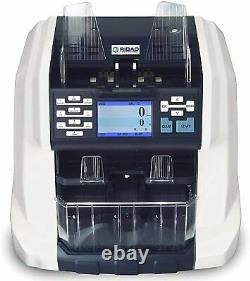 Ribao BCS-160 2-Pocket Mixed Currency Value Counter and Sorter Value Batch
