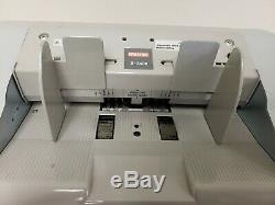 SEMACON S-2400 SERIES BANK-GRADE TWO-POCKET CURRENCY MONEY COUNTER withPwr Cord