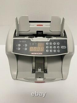 Semacon S-1225 High-Speed Bank Grade Currency Counter with Ultraviolet and Magne