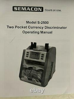 Semacon S-250 Currency Counter Discriminator