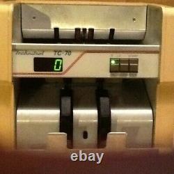 Technitrol TC70 Cash Bill Currency Counter Machine Used