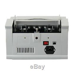 US LED Money Bill Currency Counter Machine Counterfeit Detector UV MG Cash Bank